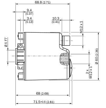 西克SICK PROFINET编码器 AFM60A-BBNB018x12 尺寸图