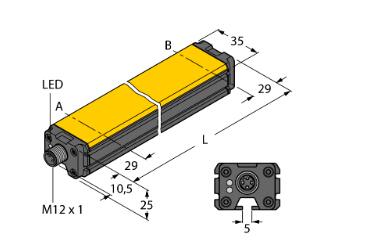 图尔克turck 直线位移传感器 li100p0-q25lm0-liu5x3