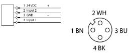 图尔克TURCK 感应耦合器 4300301 NICS-M30-IOL2P8-0,3-RKC4.4T 电气连接图