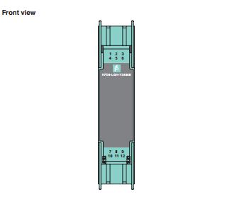倍加福P+F 隔离式安全栅 KFD0-LGH-Y34868 外形图