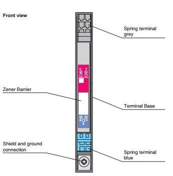 倍加福P+F 齐纳式安全栅 SB0614 外形尺寸图