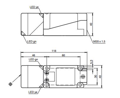 倍加福p+f 电感式接近开关 nbn40-u1-e2_电感式_接近