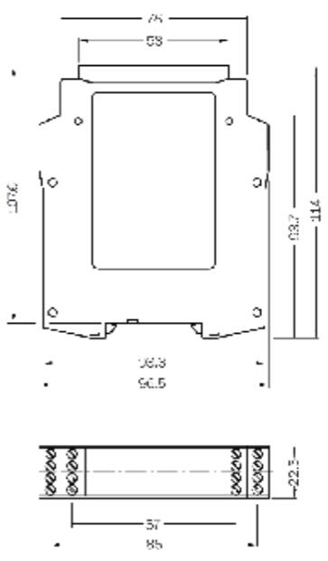 西克SICK 安全继电器 UE43-2MF3D2 产品尺寸图