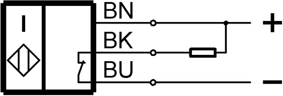 EMV:在带有干扰变量的运行条件下,需要使用外部保护电路。文档825345。 在排除了过载后,传感器将重新生效。 可非齐平安装:参见开关距离较大的感应式传感器843281的安装说明。应避免在缓冲区盖区域受到压力和接触。 如使用交流电桥,则建议将电解电容器 10F/40V与Ub并联使用。