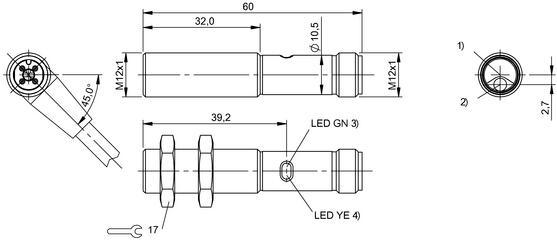 led红光 (针点)            光学特点            固定式背景消隐