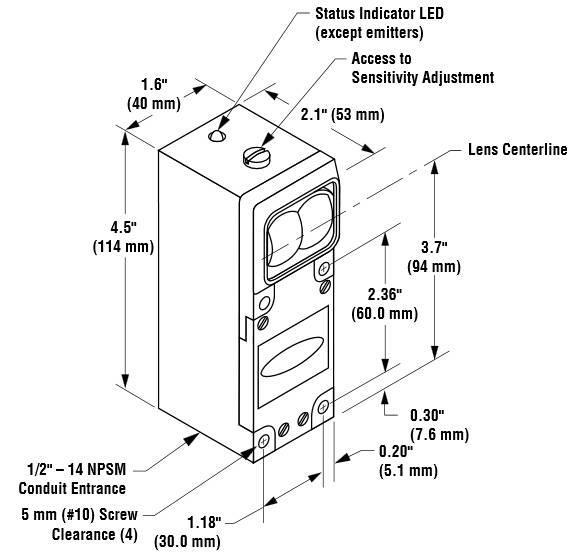 邦纳banner 光纤传感器 sbfv1mhs