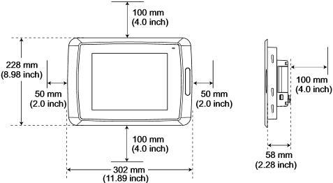 三菱Mitsubishi HMI 显示器 E1101 安装空间