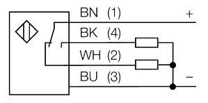 圆柱状漫反射传感器BANNER邦纳T18SP6FF100Q电气连接图