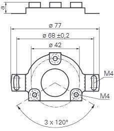Baumer堡盟编码器软联轴器通止安装BHG16.25W.0360-B2-5 产品结构图