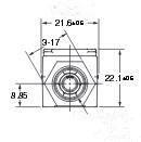 Omron欧姆龙流量传感器D6F-05N2-000产品尺寸图