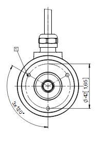Kubler库伯勒增量型空心轴旋转编码器8.5000.B147.3600 产品结构图