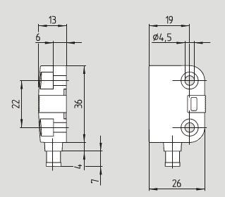 260            机械参数            电路连接说明      连接器m8